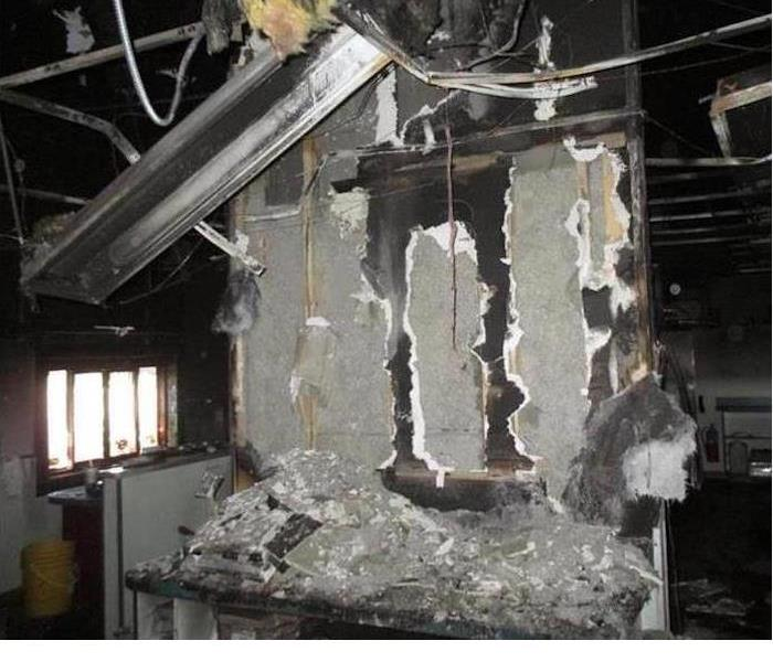 Fire Damage In Commercial Facility
